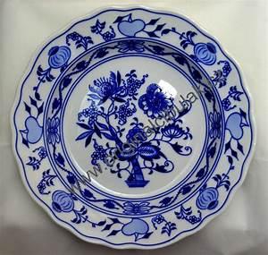 Porzellan Geschirr Hersteller : zwiebelmuster teller tief 24 cm original bohemia porzellan ~ Michelbontemps.com Haus und Dekorationen