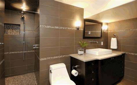 Ceramic Tile Bathroom Designs by Ideas For Tile Bathroom Design Black Brown Tile Bathroom