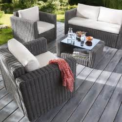 Blooma Mobilier De Jardin by Salon De Jardin Effet Rotin Tress 233 Collection Palmas