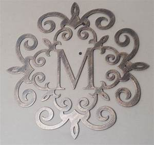 23 best wrought iron images on pinterest monogram With wrought iron outdoor monogram letters