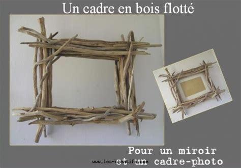 un cadre photo ou miroir en bois flott 233