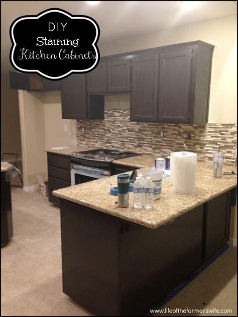 staining kitchen cabinets espresso refinish oak cabinets darker roselawnlutheran 5703