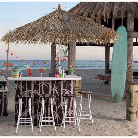 best of times tiki 6 all weather patio bar set with