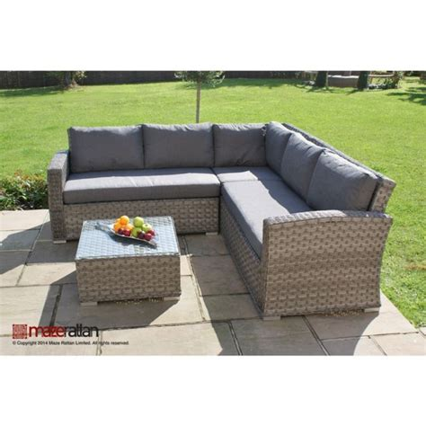 columbia rattan garden furniture small corner sofa set