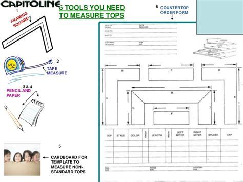 countertop measurement guide