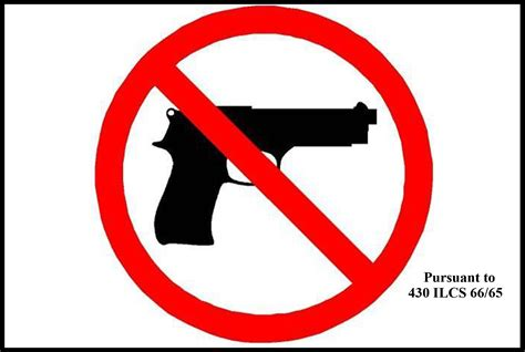 Illinois State Police Releases Official 'no Guns' Sign