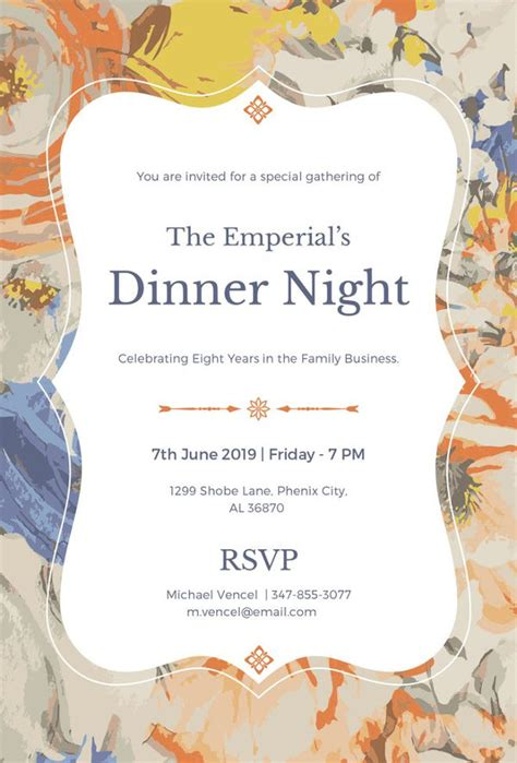 dinner invitation card templates psd ai vector eps