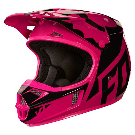 pink motocross helmets 2018 fox racing youth v1 race helmet pink sixstar racing