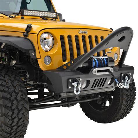 jeep stinger bumper 07 16 jeep wrangler jk stinger front bumper w oe fog