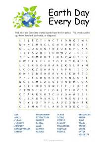 Earth Day Word Search Puzzle Printable