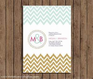 mint gold glitter pink navy monogram chevron invitation With minted navy wedding invitations