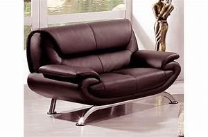 canape 3 places en cuir italien jonah chocolat mobilier With tapis chambre enfant avec canapé confort luxe cuir