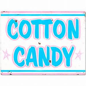 Cotton Candy Carnival Treat Metal Sign Rustic Beach Wall