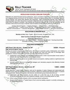 teacher resume english teacher resume sample teacher With english teacher resume