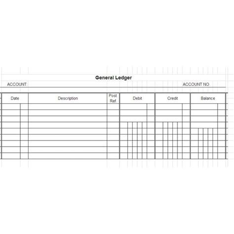 general ledger templates word excel  templates