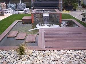 le bassin et la terrasse en bois exotique les galeries With bassin de terrasse en bois