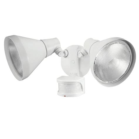 defiant security light defiant 180 degree white led motion outdoor security light