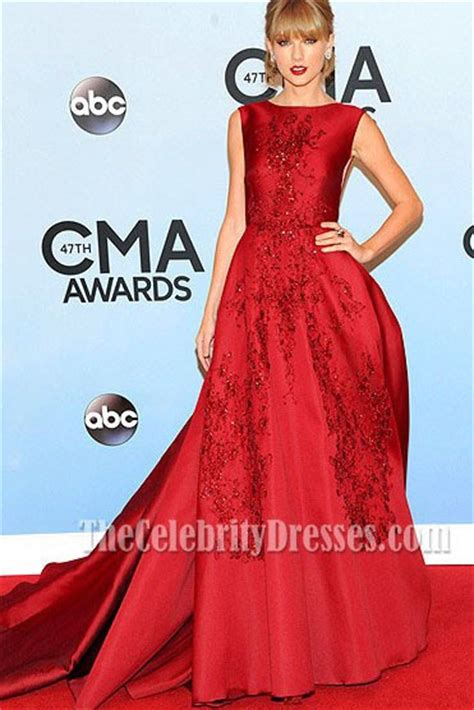 Taylor Swift Red Formal Dress CMA Awards 2013 Red Carpet - TheCelebrityDresses