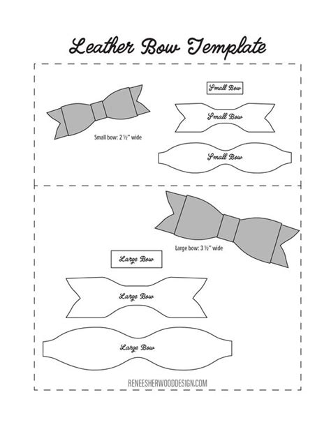 hair bow template free no sew leather or felt bow template at www rsherwooddesign renee sherwood