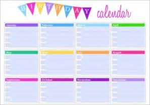Free Birthday Calendar Templates