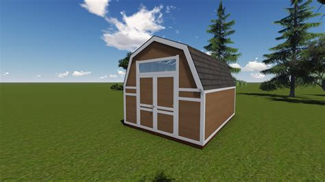 12x16 gambrel roof shed plans 12x16 barn shed plan