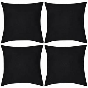 Säulentisch 80 X 80 : kussenhoezen katoen 80 x 80 cm zwart 4 stuks online kopen ~ Bigdaddyawards.com Haus und Dekorationen