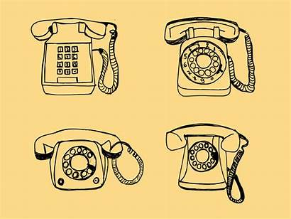 Drawing Telephone Transparent Onlygfx