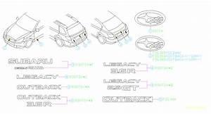 Subaru Outback Letter Mark-rear  Body  Awd