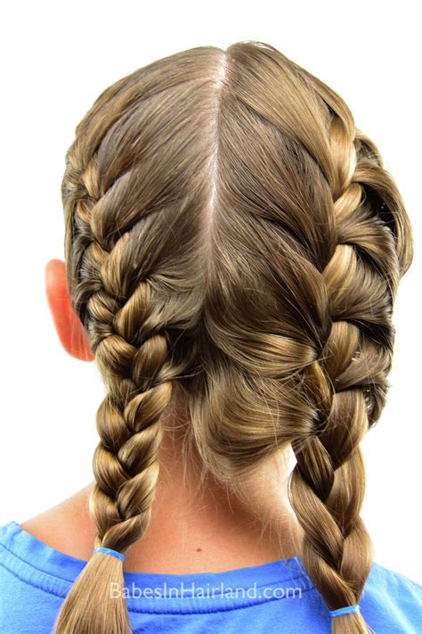 tight french braid hairmakeup french