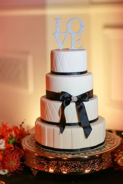 black  white buttercream wedding cake