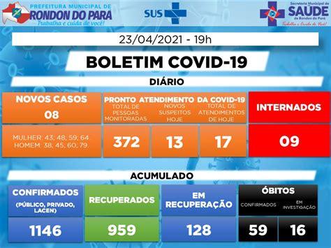 Boletim Covid-19 (23/04/2021) - Prefeitura Municipal de ...