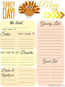 4mykiddos 5 free thanksgiving meal planner printables