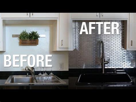 installing stainless steel kitchen backsplash