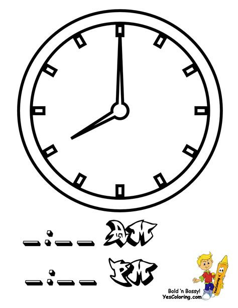 clock coloring page fearless hours clock coloring clocks free telling
