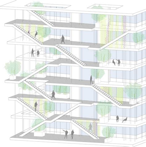 green plans gallery of nl a reveals plans for open concept green office building in france 21