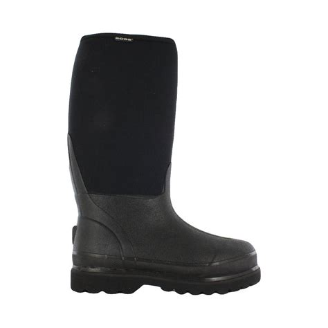 bogs rancher 16 in size 17 black rubber with neoprene