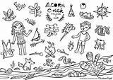 Creek Coloring Acorn Map Engel Christiane Colouring Dots Pikaland sketch template