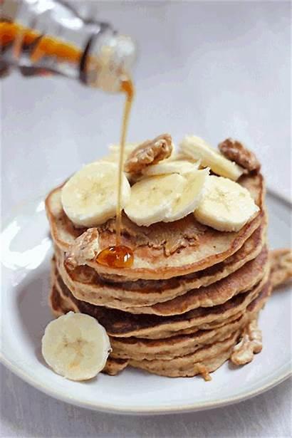 Pancakes Breakfast Banana Oat Pancake Syrup Morning