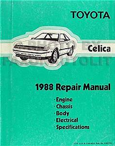 1988 Toyota Celica Wiring Diagram Manual Factory Reprint