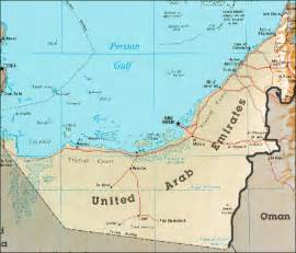 Map of the United Arab Emirates, UAE here on TipTopJob