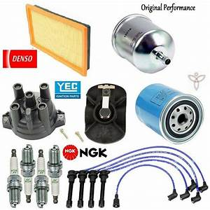 Tune Up Kit Filters Cap Spark Plugs Wire For Nissan 240sx
