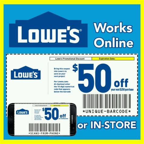 98466 11 Lowes Coupon by 3 Lowes Coupons 10 Next Purchase 10 50 25