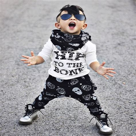 2pcs Kids Rock Street Style Clothing set Toddler Baby Boy T shirt Tops+Pants Summer Casual ...