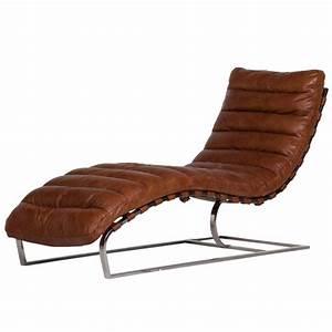 Chaise Vintage Cuir : chaise longue cuir vintage brun et m tal chrom mason chaises flamant villadici ~ Teatrodelosmanantiales.com Idées de Décoration
