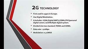 1g 2g 3g 4g Mobile Communication Technology