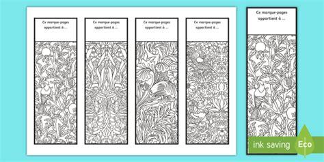 marque pages motifs de coloriages anti stress arts