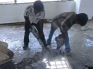 Concrete slab breaking chipping contractors tritherm for How to cut a hole in concrete floor