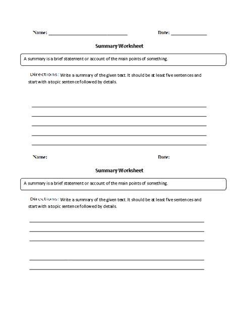 15 best images of summary writing worksheet writing