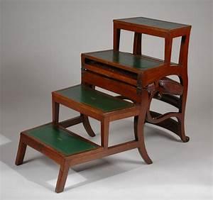 Antique, Regency, Metamorphic, Library, Chair, Steps