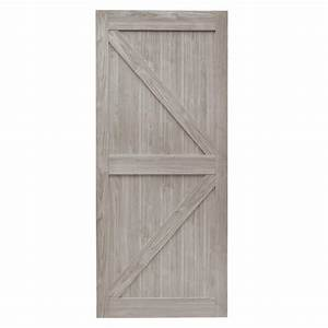 Truporte 36 in x 84 in grey mdf k frame interior barn for 40 inch interior barn door